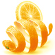 Orange zest and slice - GraphicRiver Item for Sale