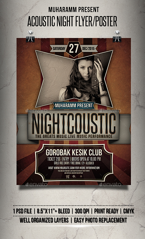 Acoustic Night Flyer/Poster - Events Flyers