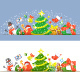 Christmas Symbols Horizontal Header Banner - GraphicRiver Item for Sale