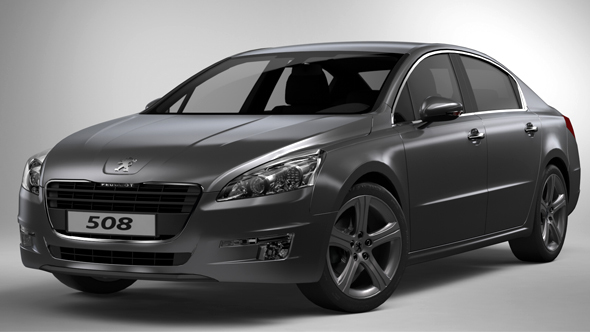 Studio Rendering Setup for Peugeot 508 - 3DOcean Item for Sale