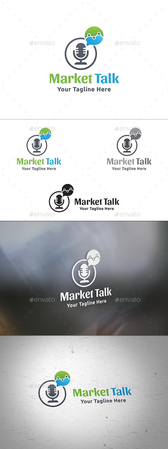 Market Talk Logo - Symbols Logo Templates