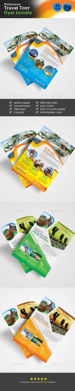 Travel Flyer Bundle - Flyers Print Templates