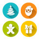 Christmas Flat Round Icons Set  - GraphicRiver Item for Sale