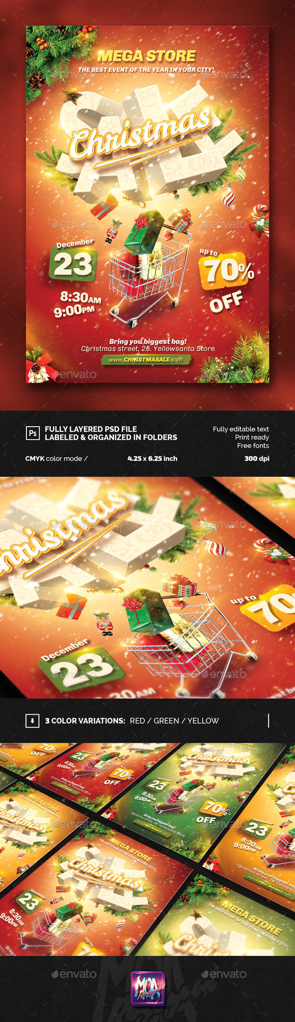 Christmas sale flyer template - Events Flyers