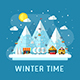 Winter Vacation Resort Landscape - GraphicRiver Item for Sale