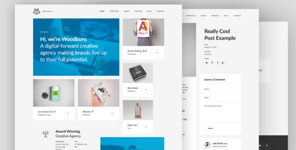 Woodbury – Multi-purpose Bootstrap HTML5 Portfolio