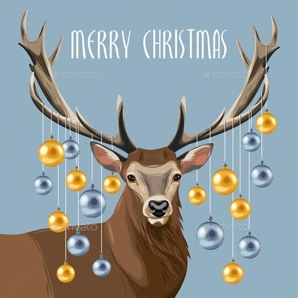 Christmas Deer and Christmas Tree Toys - Christmas Seasons/Holidays