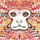 Patterned Head of the Lion Tamarin - GraphicRiver Item for Sale