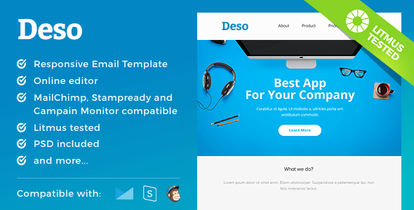 Deso – Responsive Email and Newsletter Template