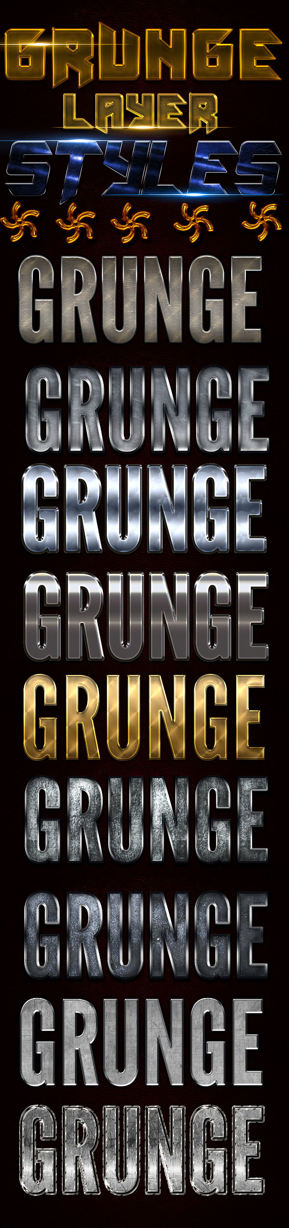 Grunger Layer Styles - Styles Photoshop