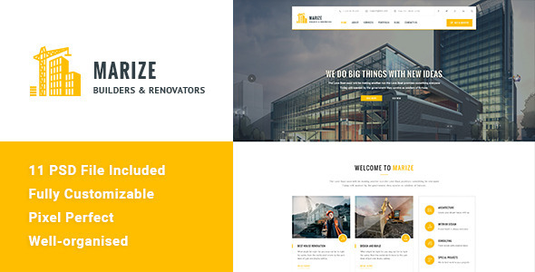 Marize – Construction & Building HTML Template