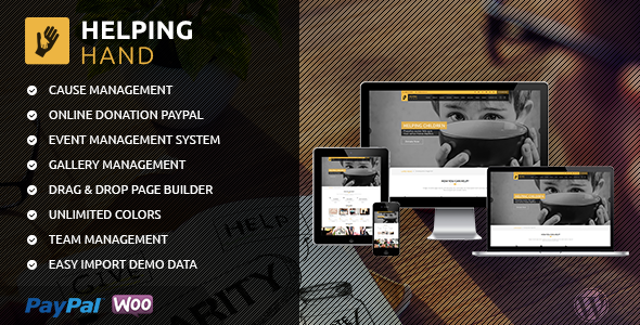 Helping Hand – Charity/Fundraising WordPress Theme