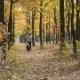 Beautiful Girl And Black Dog Running Outdoor. - VideoHive Item for Sale