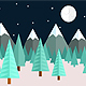 Frozen Night Game Background - GraphicRiver Item for Sale