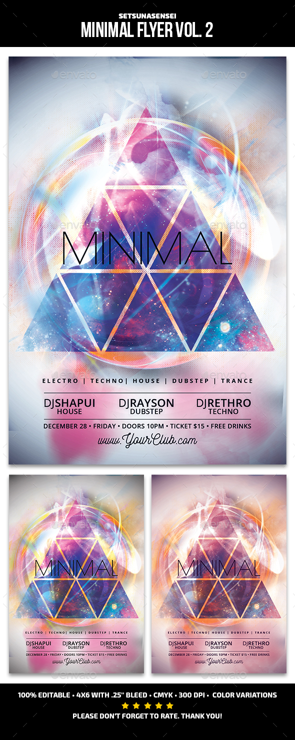 Minimal Flyer Vol. 2 - Clubs & Parties Events