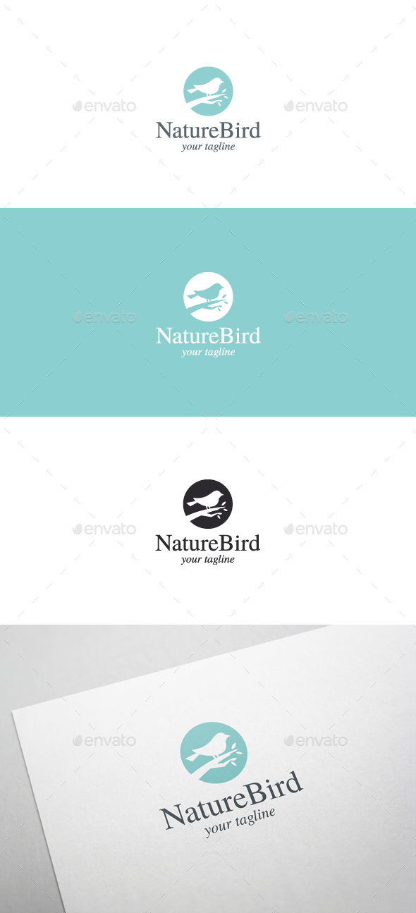 Nature Bird Logo Template - Animals Logo Templates