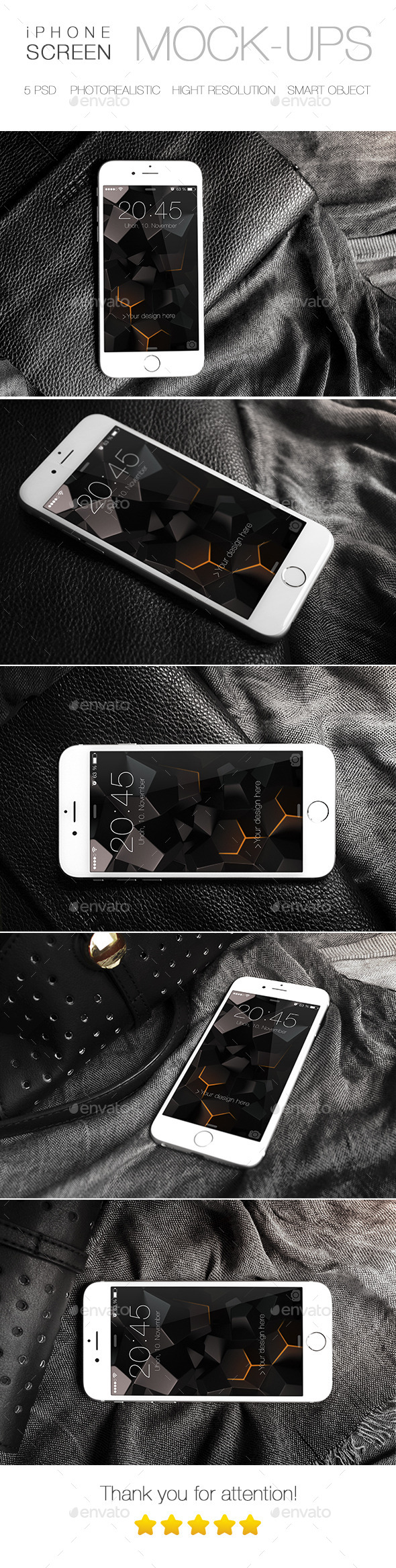 Photorealistic iPhone 6 Mock-Up - Mobile Displays