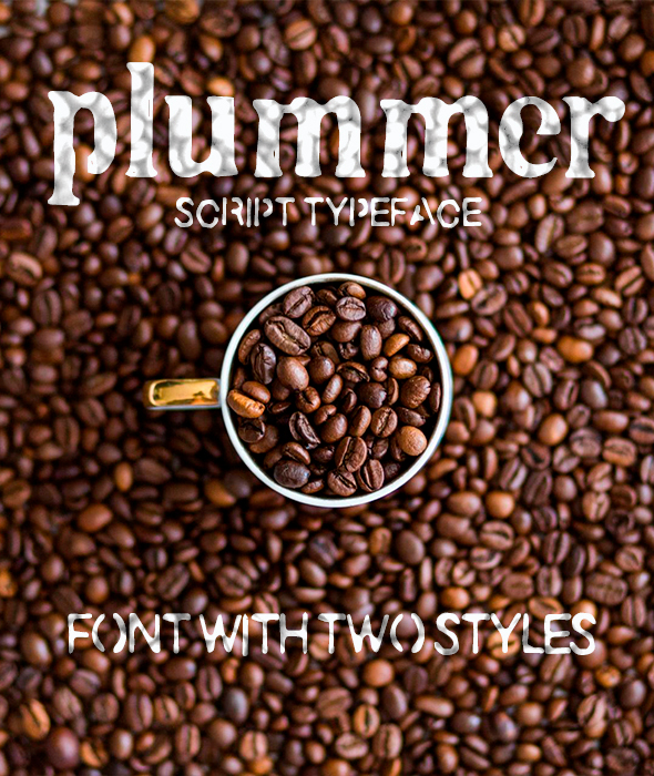 Plummer Script Typeface - Grunge Decorative