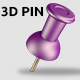 3D PIN - GraphicRiver Item for Sale