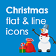 Christmas flat & line icon set - GraphicRiver Item for Sale