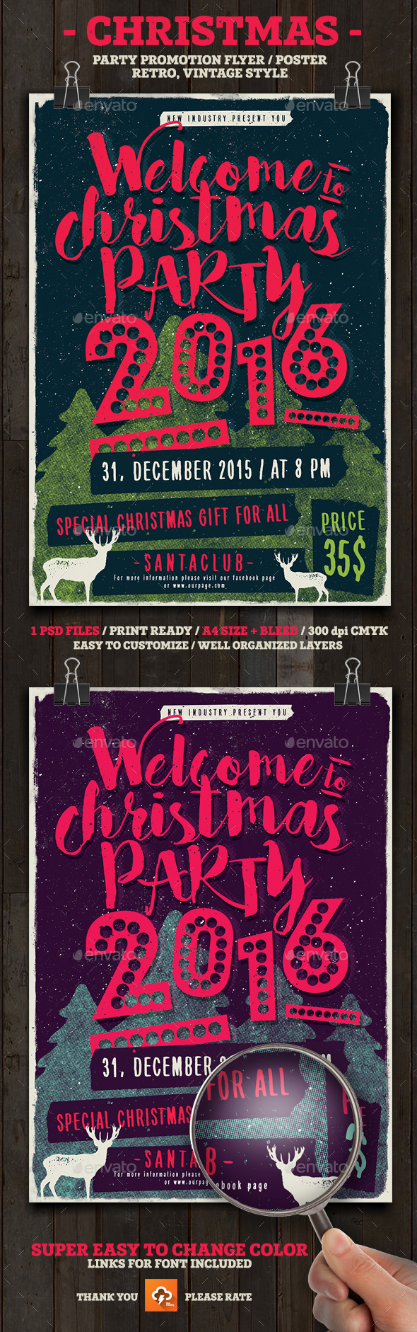 Christmas Party Poster/Flyer - Holidays Events