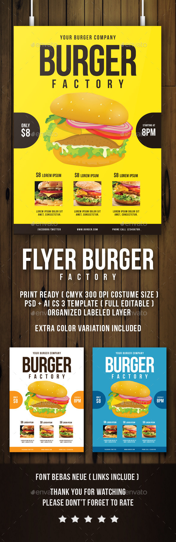 BURGER FACTORY FLYER - Restaurant Flyers