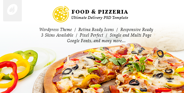 Food & Pizzeria - Ultimate Delivery WordPress Theme