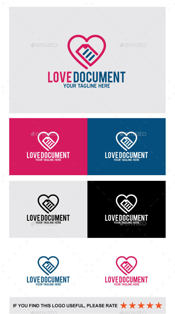Love Document - Abstract Logo Templates