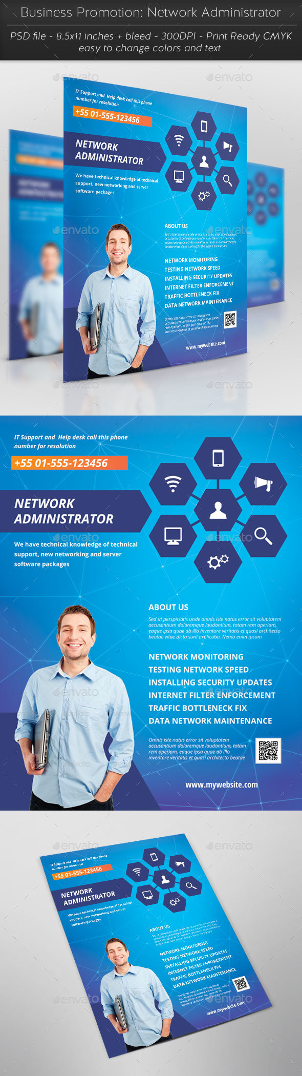 Business Promotion: Network Administrator - Corporate Flyers
