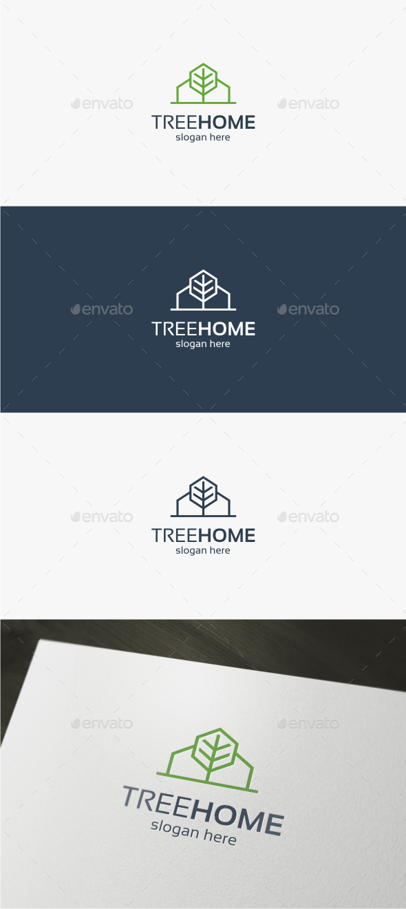 Tree Home - Logo Template - Buildings Logo Templates