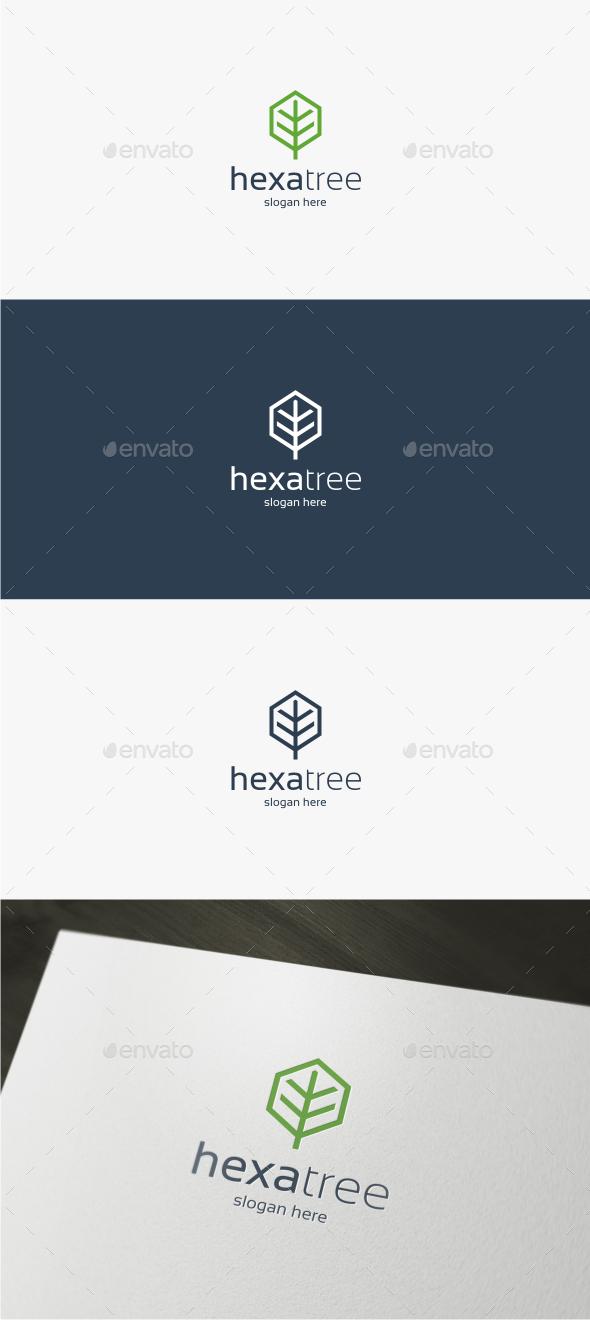 Hexa Tree Logo - Symbols Logo Templates
