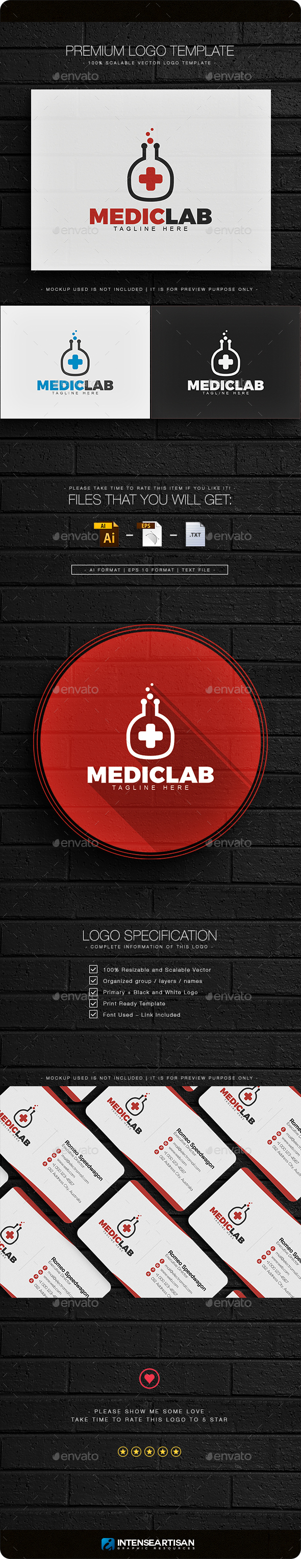 Medic Lab Logo - Objects Logo Templates