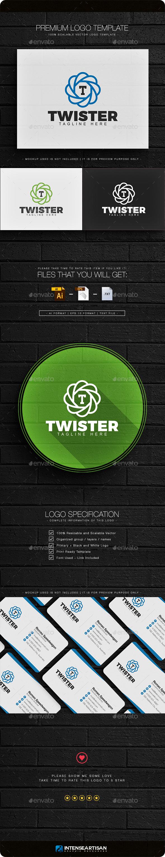 Twister - Letter T Logo - Letters Logo Templates