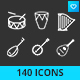 Music Instruments Icon Set - GraphicRiver Item for Sale