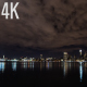 New York City Skyline During Cloudy Night - VideoHive Item for Sale