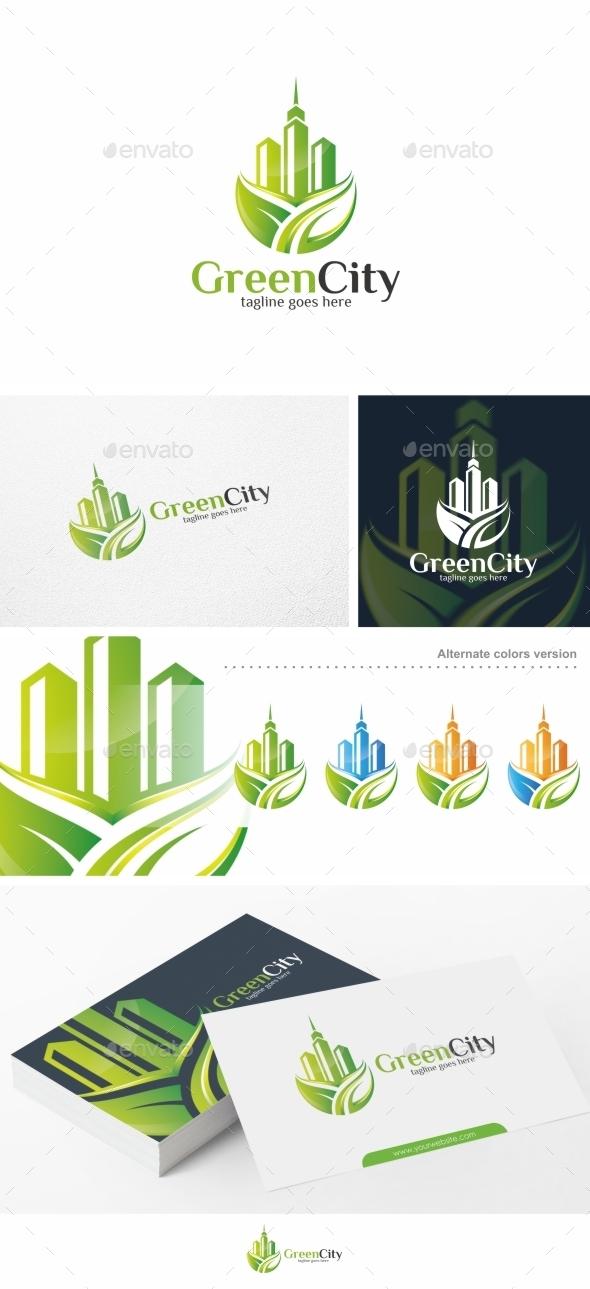 Green City - Logo Template - Buildings Logo Templates