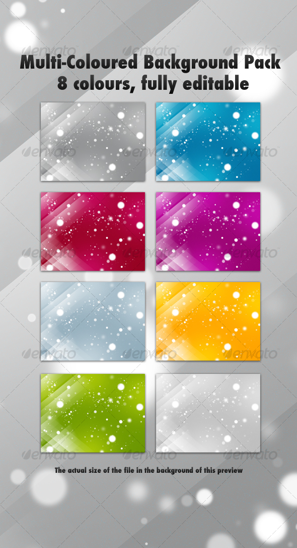 Multi-Coloured Background Pack - Backgrounds Graphics