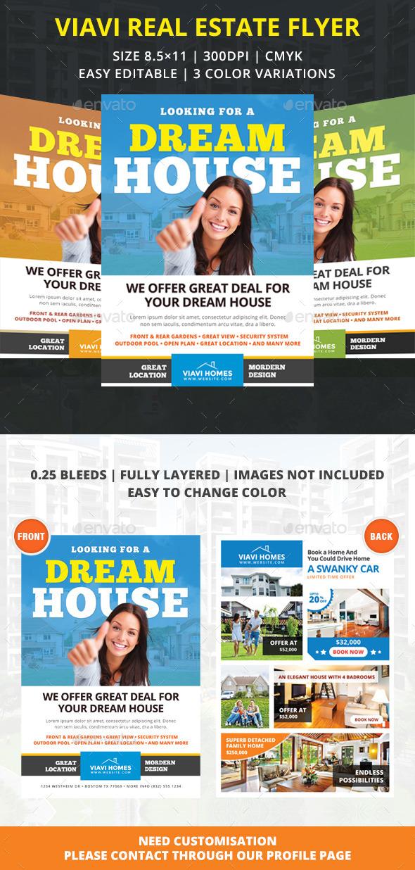 Viavi Real Estate Flyer - Corporate Business Cards