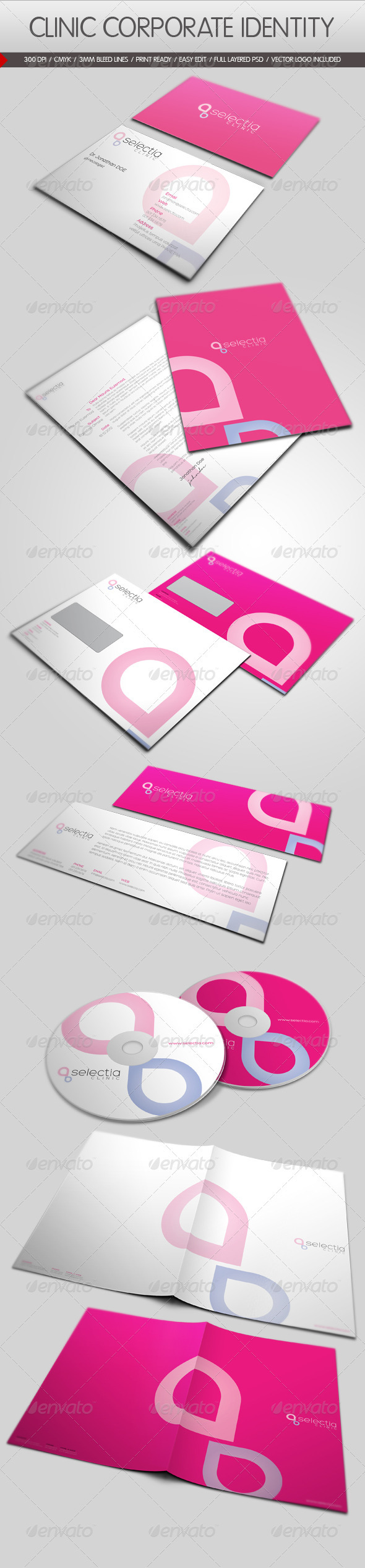 Clinic Corporate Identity - Stationery Print Templates
