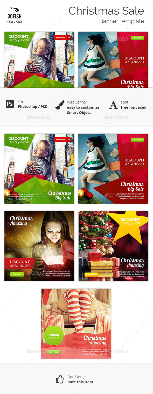Christmas Sale Banner - Banners & Ads Web Elements