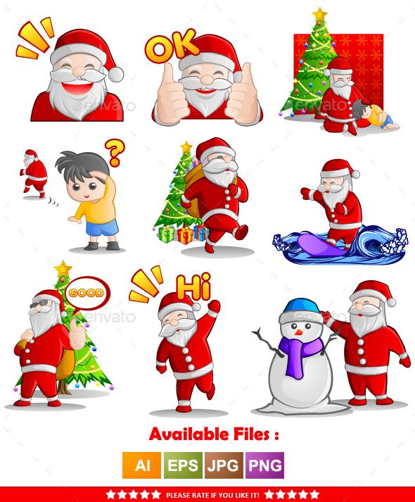 Santa Claus Character Vector 1 - Christmas Seasons/Holidays