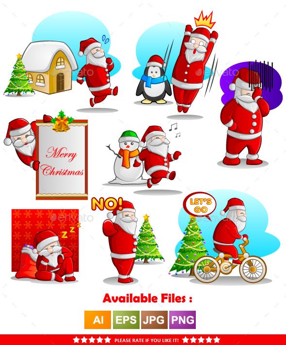 Santa Claus Character Vector 2 - Christmas Seasons/Holidays