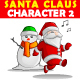 Santa Claus Character Vector 2 - GraphicRiver Item for Sale
