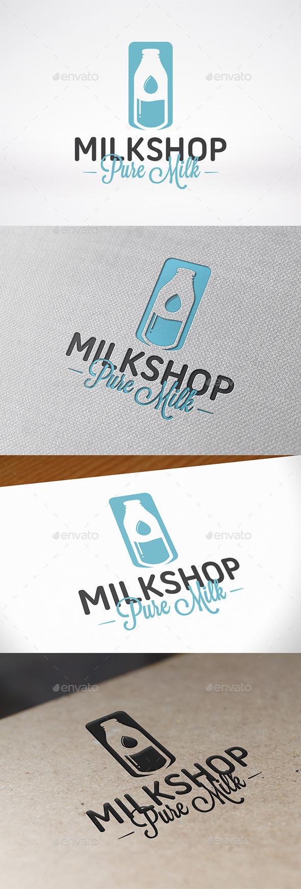 Milk Logo Template - Food Logo Templates