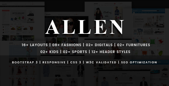 Allen – Multipurpose HTML eCommerce Template
