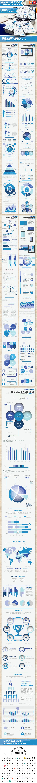 Blue Big Infographic Elements Design Scheme V.5 - Infographics