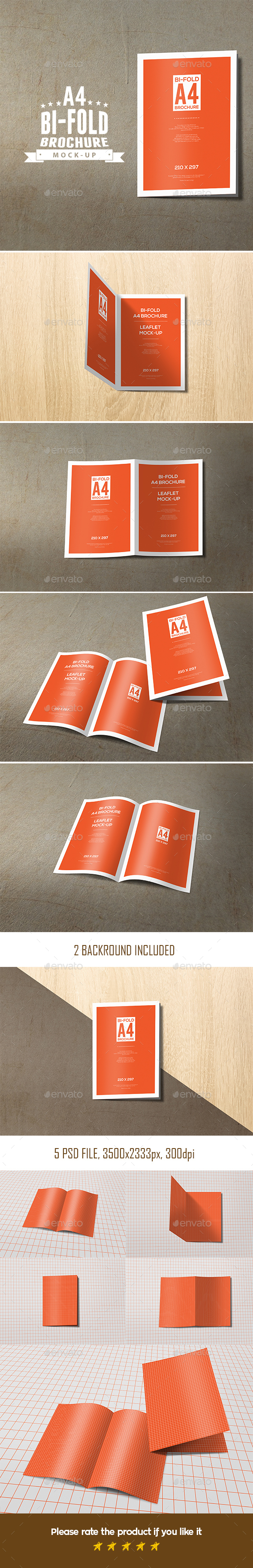 Bi-Fold A4 Brochure Leaflet Mock-Up - Brochures Print