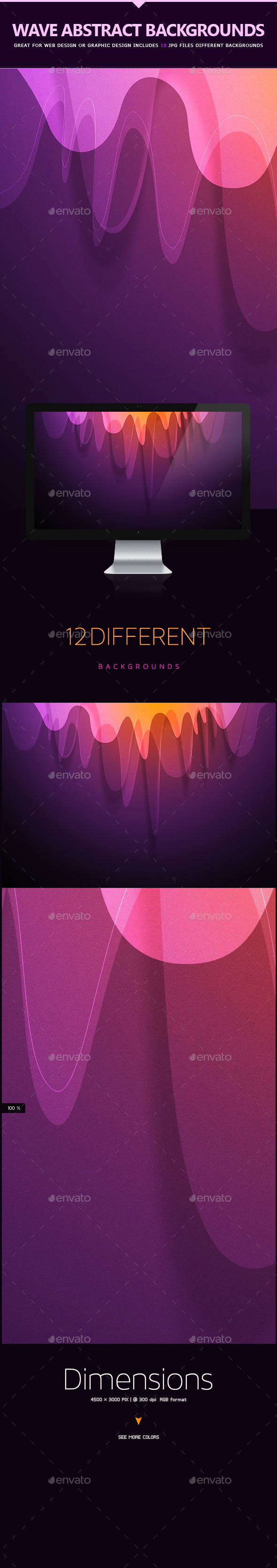Wave Abstract Backgrounds - Miscellaneous Backgrounds