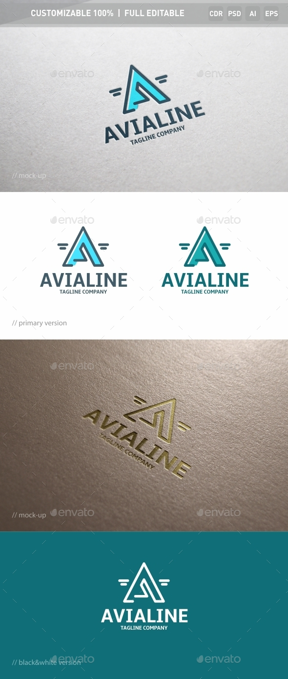 Avialine Logo Template - Objects Logo Templates