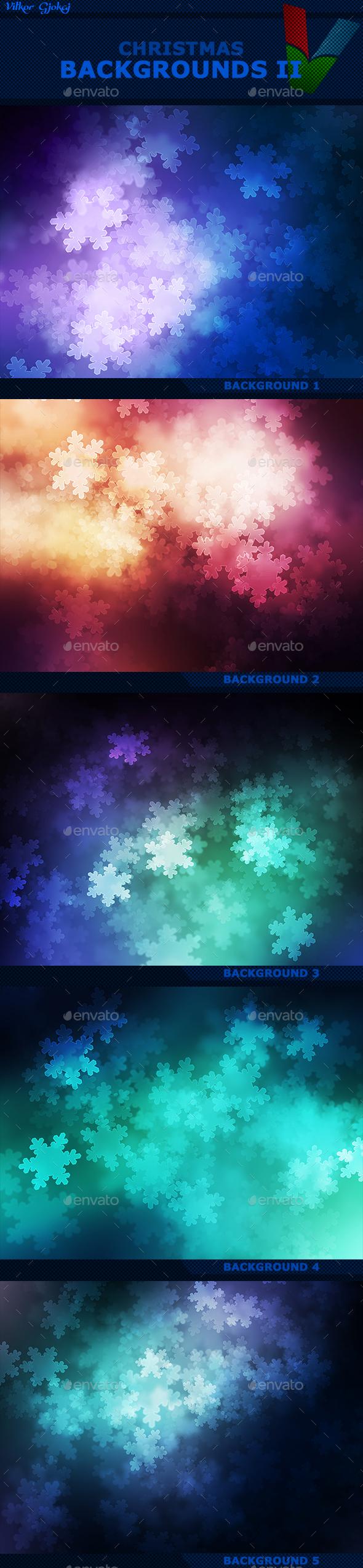 Christmas Backgrounds II - Abstract Backgrounds